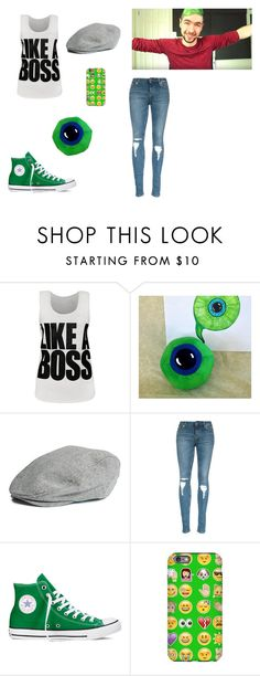 """Jacksepticeye outfit"" by hip-like-jaden ❤ liked on Polyvore featuring mode, WearAll, Converse, women's clothing, women, female, woman, misses et juniors"