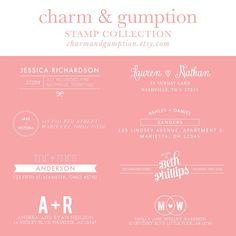 charm & gumption return address stamps