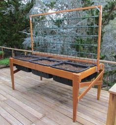 "Plans - Waist-high Raised-bed Garden Planter, 96"" X 45"" - PDF Construction Plans"