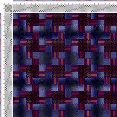 Drawdown Image: Figurierte Muster Pl. XLVII Nr. 3 (a), Die färbige Gewebemusterung, Franz Donat, 8S, 8T