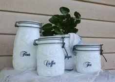 Old Kitchen Flour Sugar Etc Sets