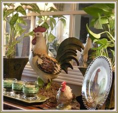 Eye For Design: Decorating With Roosters For A French Country Look