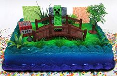 Best price Cake Toppers Minecraft Creeper Themed Birthday Set Featuring Creeper Figure and Decorative Themed Accessories Themed Birthday Cakes, Themed Cupcakes, Happy Birthday Cakes, Fun Cupcakes, Birthday Cake Toppers, Birthday Party Decorations, Boy Birthday, Batman Cake Topper, Diy Cake Topper
