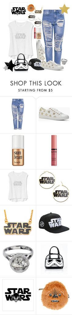 """""""Star Wars"""" by bitty-junkkitty ❤ liked on Polyvore featuring Boohoo, Benefit, NYX, Gap, Disney and Loungefly"""