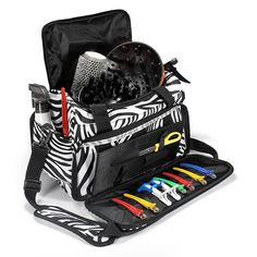 Salon Hair Tools Hairdressing Zebra Carry Case Diaper Duffle Bag Supplies