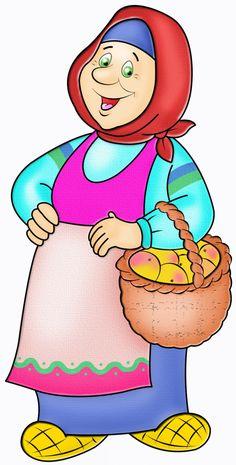 Бабушка с корзинкой пирожков - картинка №10170