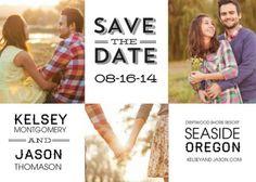 black & white save-the-date cards starting at $0.80 #zoggin #wedding #savethedate