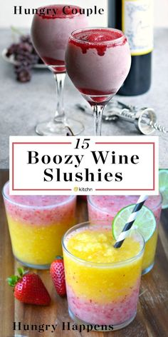 15 Wine Slushies You Need to Drink Outside This Summer 15 Boozy Wine Slushies. There's more to frozen and blended cocktails and pitcher drinks / beverages than Frozé Rosé (aka Froze Rose). Wine Slushie Recipe, Wine Slushies, Halloween Bebes, Pitcher Drinks, Beste Cocktails, Alcohol Drink Recipes, Slushy Alcohol Drinks, Punch Recipes, Fun Summer Drinks Alcohol