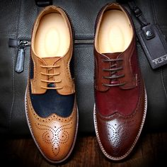 Bullock Men's Oxfords Shoes 2016 Spring Autumn British Carved Leisure Shoes Fashion Retro Pointed Toe Brogue Shoes For Men