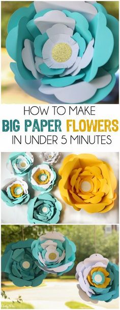 I've always wanted to know how to make those big paper flowers, love this idea and the especially the color blocked paper flowers! #sponsored