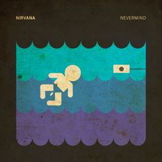 "Nirvana's ""Nevermind"" by Ty Lattau Minimalist Movie Posters and Album Artwork Radiohead, Cd Cover, Cover Art, Pink Floyd, Nirvana, Beatles, Classic Album Covers, Pochette Album, Album Cover Design"