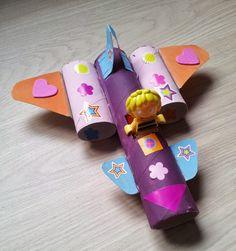 Avion en #carton                                                       … Halloween Party Games, Diy Halloween Decorations, Halloween Crafts, Toilet Paper Roll Crafts, Diy Paper, Paper Crafts, Preschool Crafts, Diy Crafts For Kids, Diy Toys