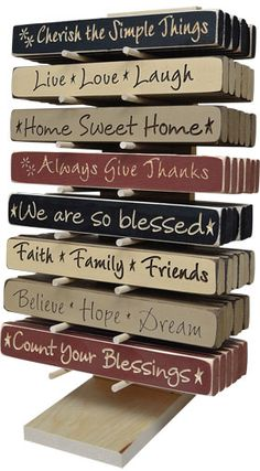 wooden block signs | Top > Signs/Plaques/Pictures > Wood Sayings Blocks