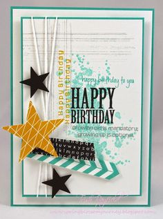 Just Add Ink Stampin' Up!, Stars, masculine card