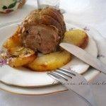 Arrosto di fesa di vitello con patate, un secondo delle feste