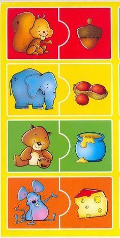 Eşleştirmeli Eğitici Kartlar ve Yapbozlar Hair Style Montessori Activities, Preschool Learning, Infant Activities, Preschool Activities, Subject And Verb, Busy Book, Matching Games, Kids Education, Pre School