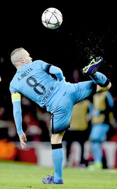 "fcbarcelonasource: """"Andres Iniesta in action during the UEFA Champions League Round of 16, 1st leg match between Arsenal and Barcelona at Emirates Stadium on February 23, 2016 in London, United..."