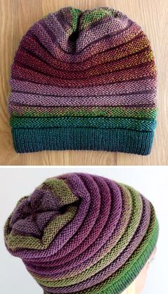 Beanie Knitting Patterns Free, Beanie Pattern, Loom Knitting, Knitting Designs, Knitting Stitches, Knit Patterns, Knitting Projects, Baby Knitting, Free Knitting