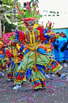 . Masskara Festival, Bacolod City, Samba, Philippines, Caribbean, Asian, Dance, Costumes, Big