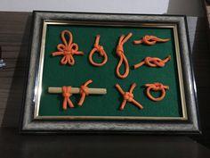 Quadro de nós escoteiro, bom pra praticar e ótima decoração