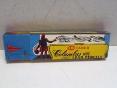 Vintage One Dozen New Columbus AW Faber Pencils Hexagon Yellow F Medium