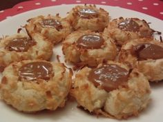 Coconut Thumbprint Cookies with Salted Caramel - Made these tonight and they are AMAZING!