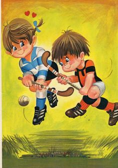 Vintage Postcard Seventies field hockey by CuteEyeCatchers on Etsy, €3.50