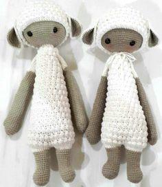 LUPO the lamb made by Jess / crochet pattern by lalylala