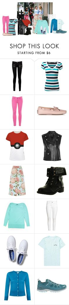 """The Sisterhood of the Traveling Pants"" by milkshakes-and-dogs ❤ liked on Polyvore featuring Paige Denim, J.Crew, Tod's, Maje, Warehouse, Refresh, The Limited, H&M, Keds and Billabong"