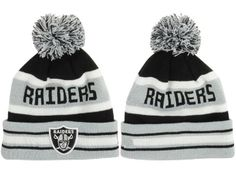 2017 Winter NFL Fashion Beanie Sports Fans Knit hat Oakland Raiders Beanie ea80fdda5