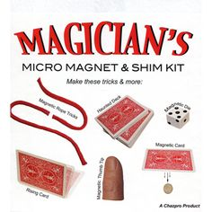 The Magicians Micro Magnet kit by Chazpro Magic - Trick