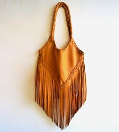 Sierra Fringe Leather Tote Bag by Sissipahaw Leather Co. on Scoutmob Shoppe