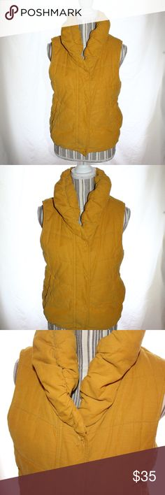 """💗Anthropologie - Pilcro and the Letterpress Vest In Great Condition! Snaps with zipper as well. Warm and cozy vest with 2 pockets. Pilcro and the Letterpress is an Anthropologie brand.   35"""" - Bust 22"""" - Length Anthropologie Jackets & Coats Puffers"""