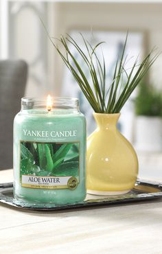 Top Notes of Cucumber, Melon and Orange #yankeecandle