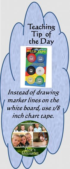 Chart tape gives a very organized and professional appearance on the white board. I've used it for all kinds of board lines and organization. There are many colors, but I prefer the black. Here is a link to a product. I am not in any way associated with this product. http://www.amazon.com/Chartpak-DEC001-Bright-Decorative-Assorted/dp/B0015ZUTBO/ref=sr_sp-btf_title_1_4?ie=UTF8=1378166416=8-4=chart+tape