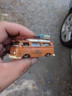 Custom Hot Wheels, Hot Wheels Cars, Custom Cars, Low Poly Car, Vw Pickup, T2 Bus, Mad Max, Rc Cars And Trucks, Metal Toys