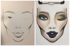 Face chart #isabelspa #makeup #makeupartist #beauty