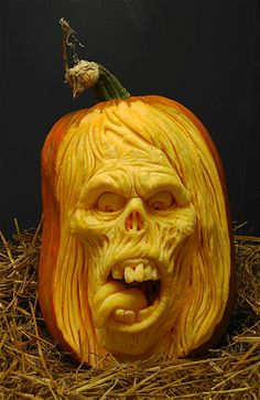 Today, there are various ideas about how to creatively design a pumpkin. What a good idea for pumpkin carving. There are many halloween pumpkin ideas that you could come across online and I'm here in order to provide you a little few examples. 3d Pumpkin Carving, Awesome Pumpkin Carvings, Pumpkin Carving Patterns, Pumpkin Art, Pumpkin Faces, Pumpkin Painting, Pumpkin Head, Food Carving, Scary Halloween Pumpkins