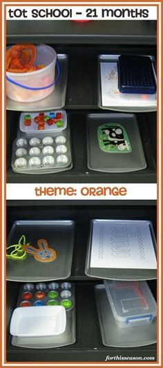 tot school 21 months, theme ~ orange