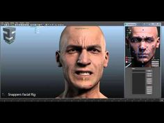 Snappers Facial Rig for Maya (also available for 3dsMax) + dx11 or Cg skin shader with multiple wrinkles maps + Rig Manager to handle select...