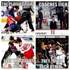 Academy of Scoring Basketball - Fans fight. Just reasons why hockey is the best sport ever TSA Is a Complete Ball Handling, Shooting, And Finishing System! Here's What's Included. Montreal Canadiens, Funny Hockey Memes, Hockey Quotes, Ironic Memes, Funny Quotes, Tennis Quotes, Funny Pics, Funny Memes, Vancouver Canucks