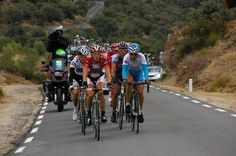 Head of the race in La vuelta