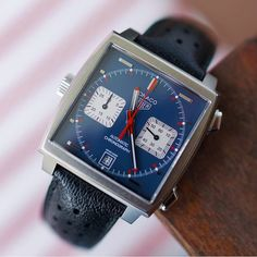 Heuer Monaco Calibre 11 by Sport Watches, Cool Watches, Men's Watches, Tag Heuer Monaco, Patek Phillippe, Time Capsule, Luxury Watches For Men, Omega Watch, Swatch