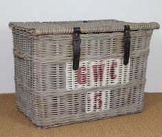A Trunk from Villa Maison's new French Vineyard Collection. Click through for more styles #french #frenchinspired #vintage #rattan