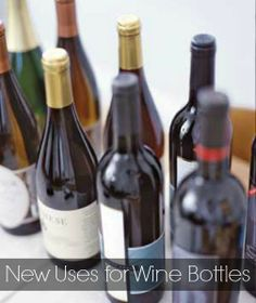 Discover six new uses for wine bottles