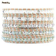 Crystal Wrap Bracelets Vintage Weaving Bead Bracelet Handmade Jewelry