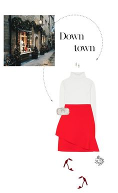 """Red & White Outfit."" by xabbielou ❤ liked on Polyvore featuring Chloé, Topshop, Natasha Couture, Yves Saint Laurent, GET LOST and Carolee"