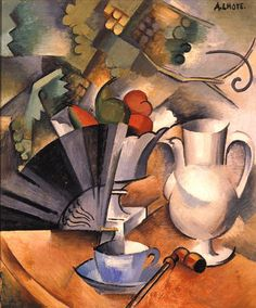 """""""Natureza Morta com Leque"""" oil on canvas, 1912 by Andre Lhote (French 1885-1962)"""