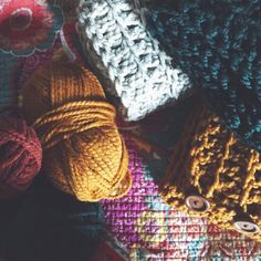 "yokieB on Instagram: ""Scarf Pile  #yokieb #crochet #crochetaddict #etsy #yarn"""