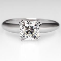 Radiant Cut Diamond Engagement Ring Diamond Platinum